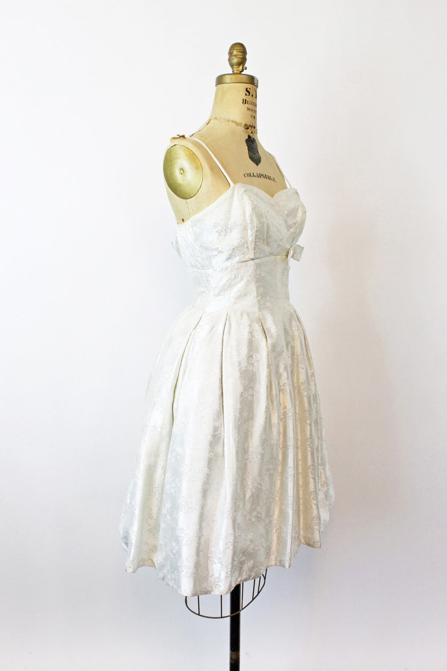 1950s silk brocade dress | full skirt | xs