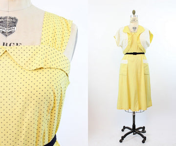 1930s star print dress | matching bolero coat | xl-volup JKC