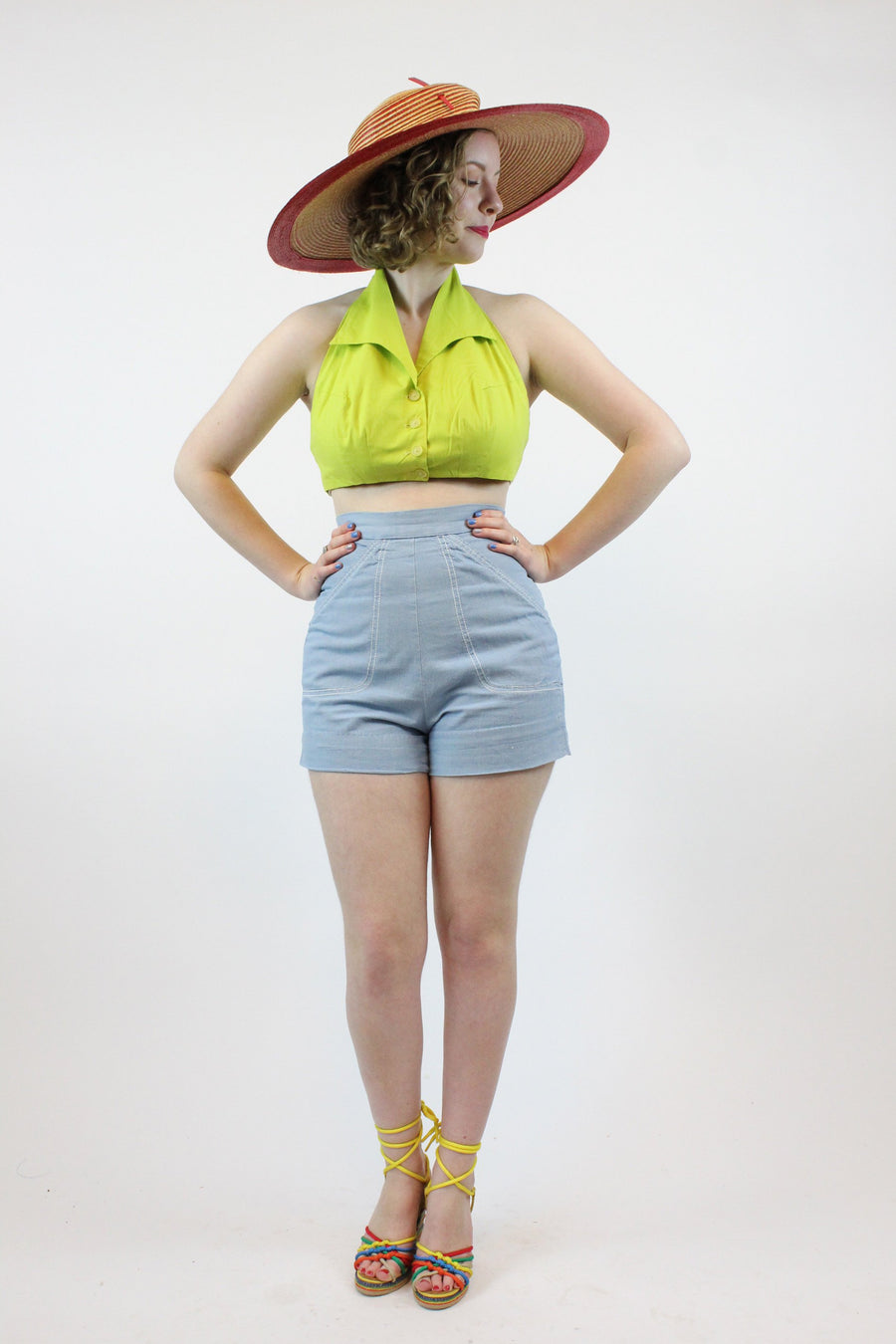 1950s Catalina denim shorts xs | cotton shorts new