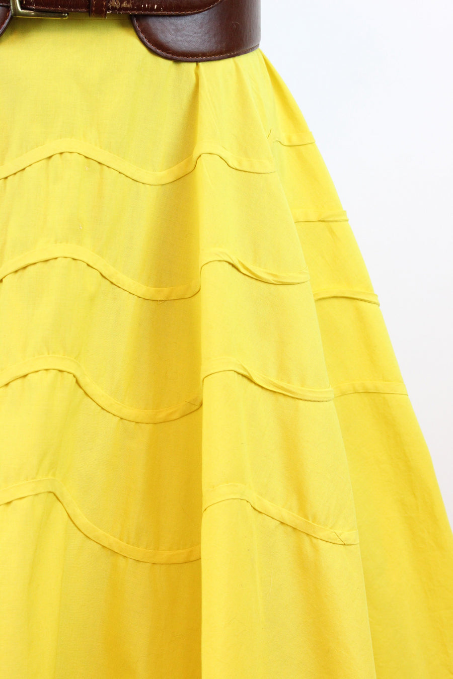 1950s Miami Miss yellow cotton halter dress | vintage summer dress | small