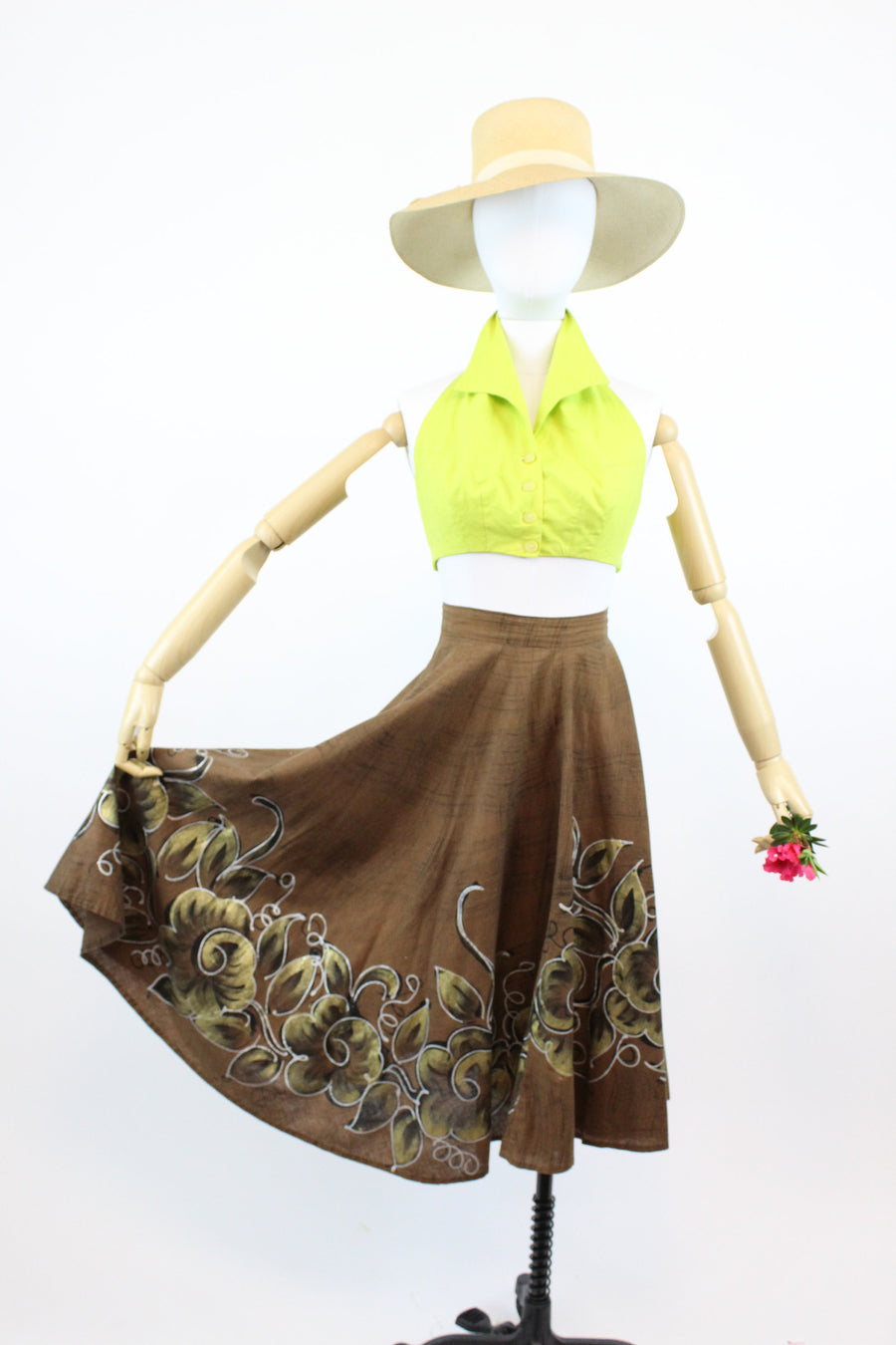 1950s vintage mexican skirt | full circle skirt | medium - large