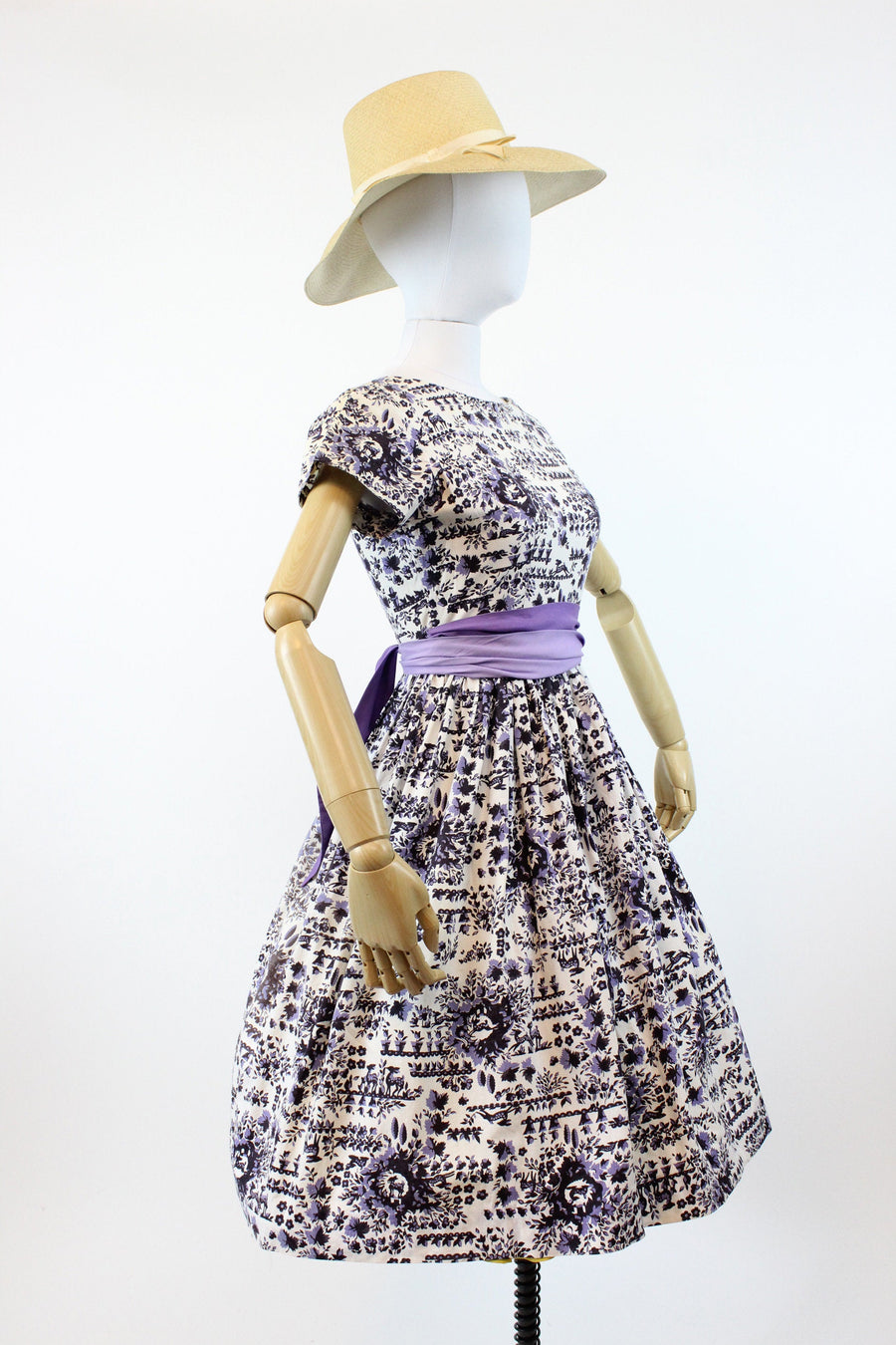 1950s deer print dress xs | vintage novelty dress | new in