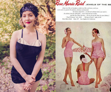 1950s Rose Marie Reid documented one piece xs small | jewels of the sea romper playsuit