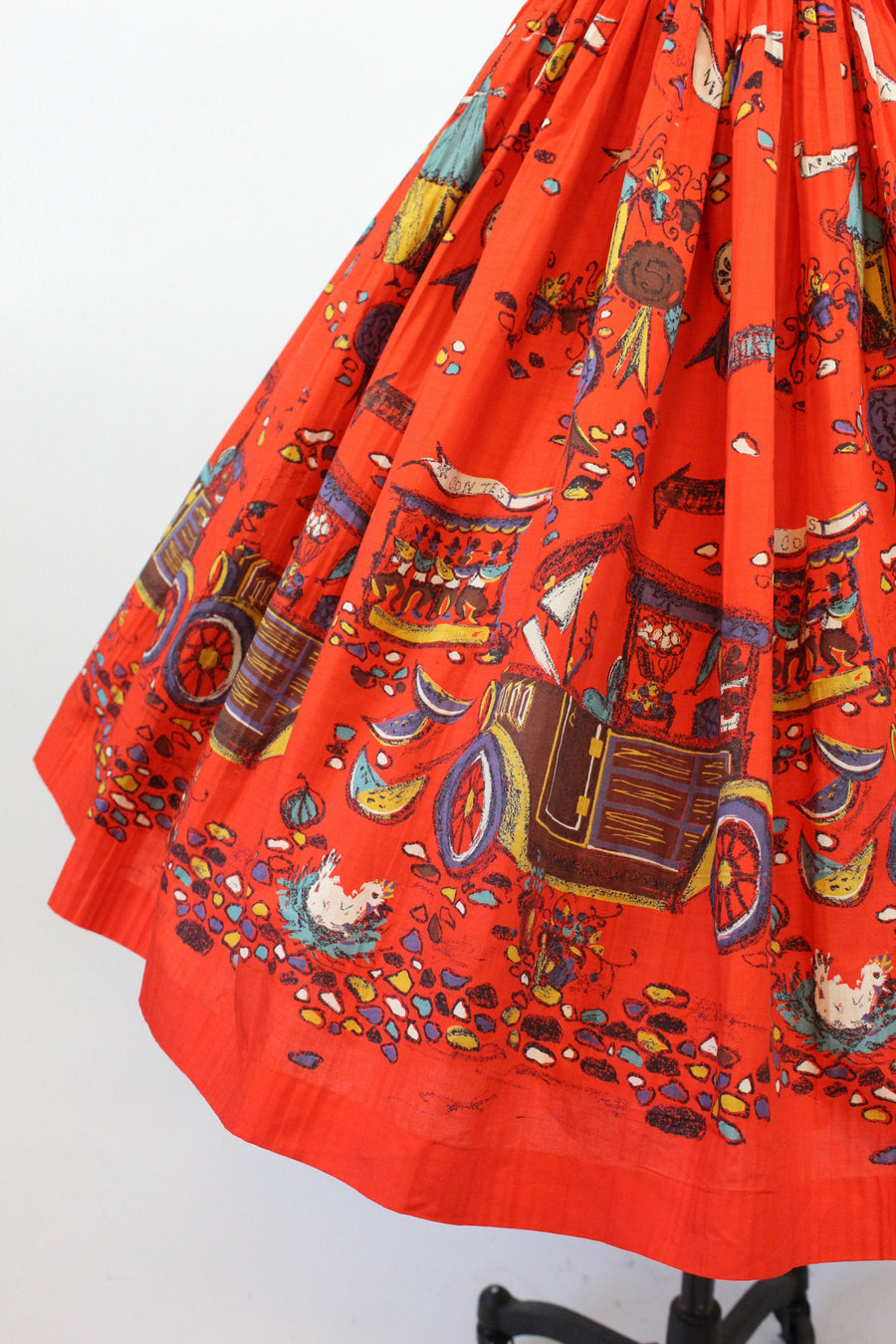 1950s Millworth skirt xxs | vintage novelty state fair | new in