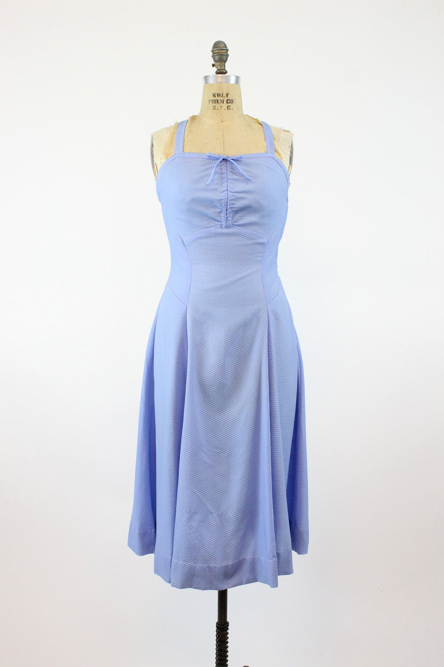 1950s halter dress small | vintage sun dress criss cross back | new in