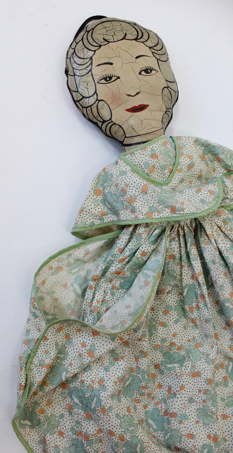 1920s doll purse large | feedsack dress handbag