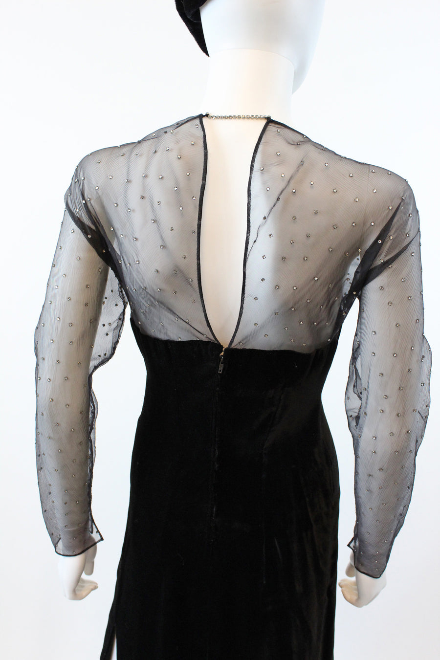 1980s Met Museum Givenchy couture dress | vintage velvet and rhinestone | new in
