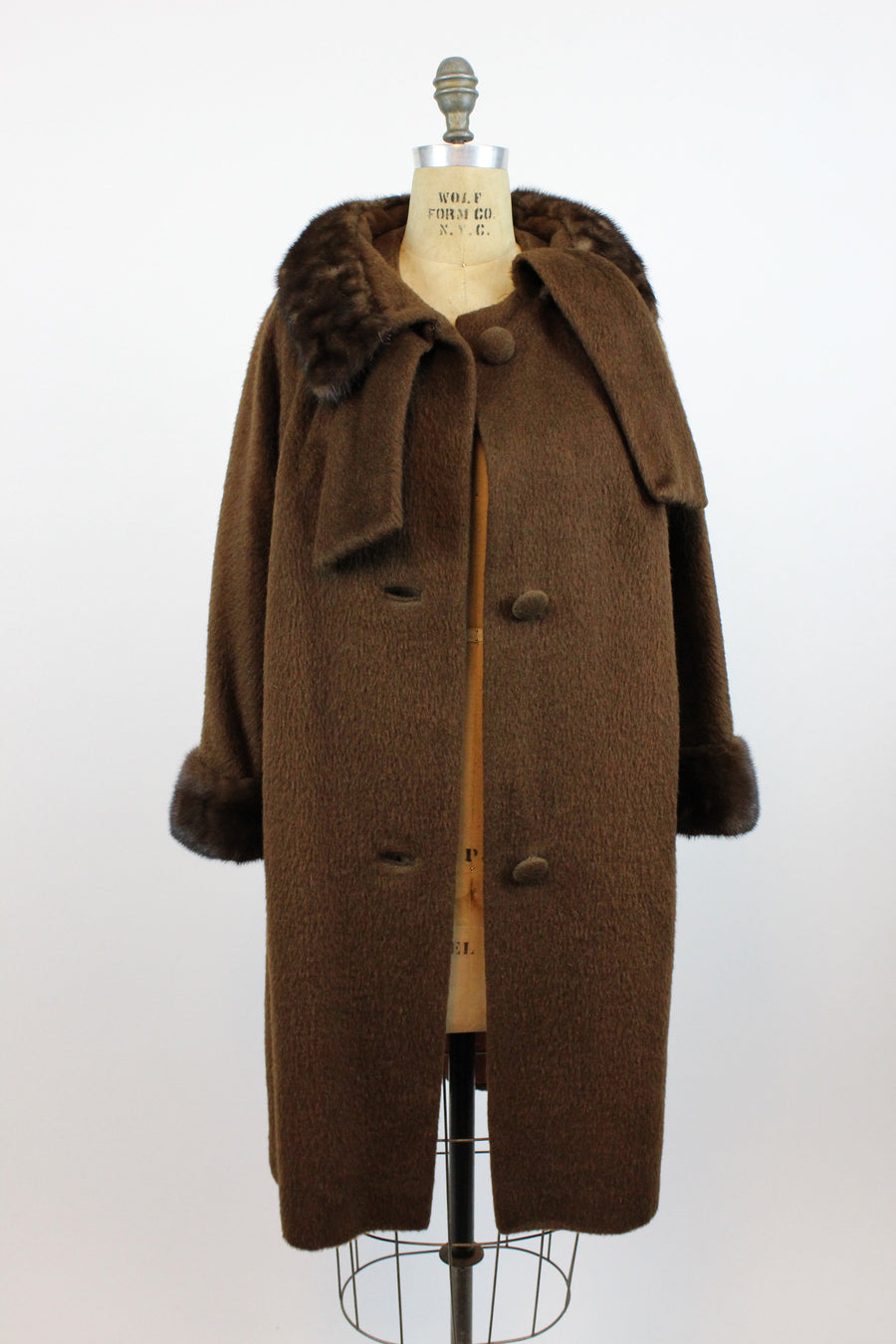 1960s Lilli Ann mink fur scarf coat medium large | vintage fur jacket | new in