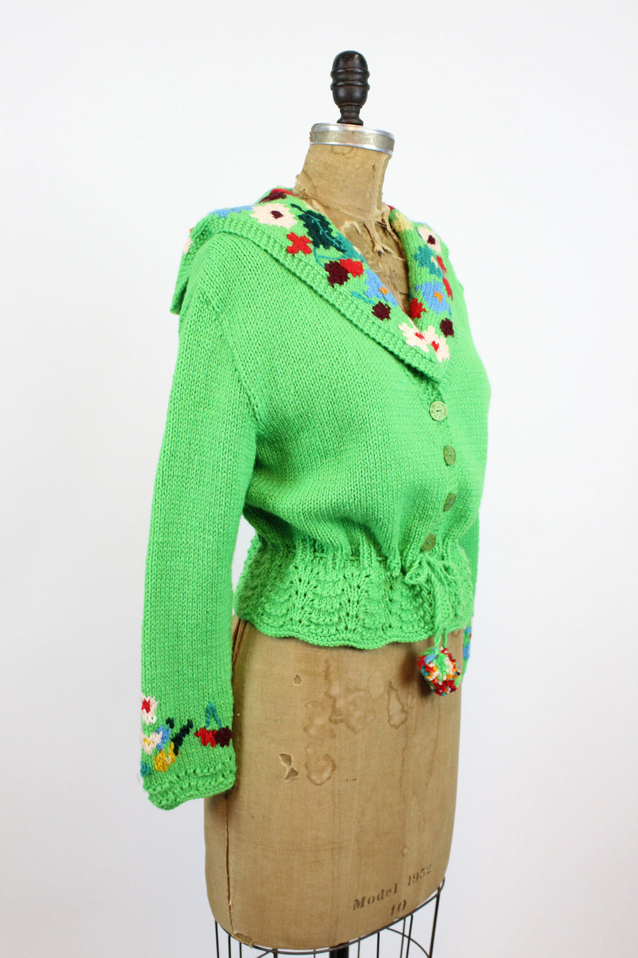 1970s does 1940s KNIT cardigan xs small | new knitwear