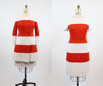 1960s LILLI ANN set dress and coat medium | vintage coat | new in