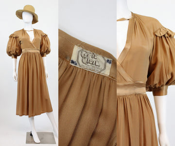 1970s Ossie Clark RARE dress xs small | vintage 70s boho wrap dress | new in