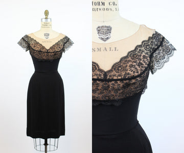 1950s Peggy Hunt dress xs | vintage lace wiggle dress | new in