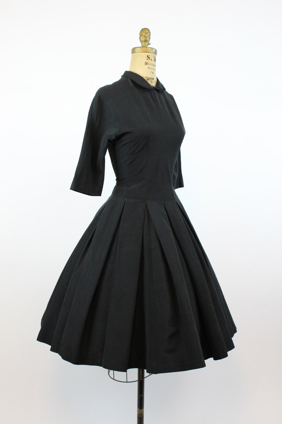 1950s Suzy Perette dress small | vintage peter pan collar full skirt | new in