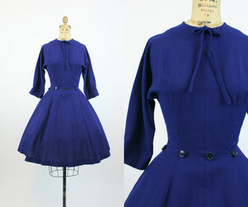 1950s wool NEW LOOK dress small | new fall