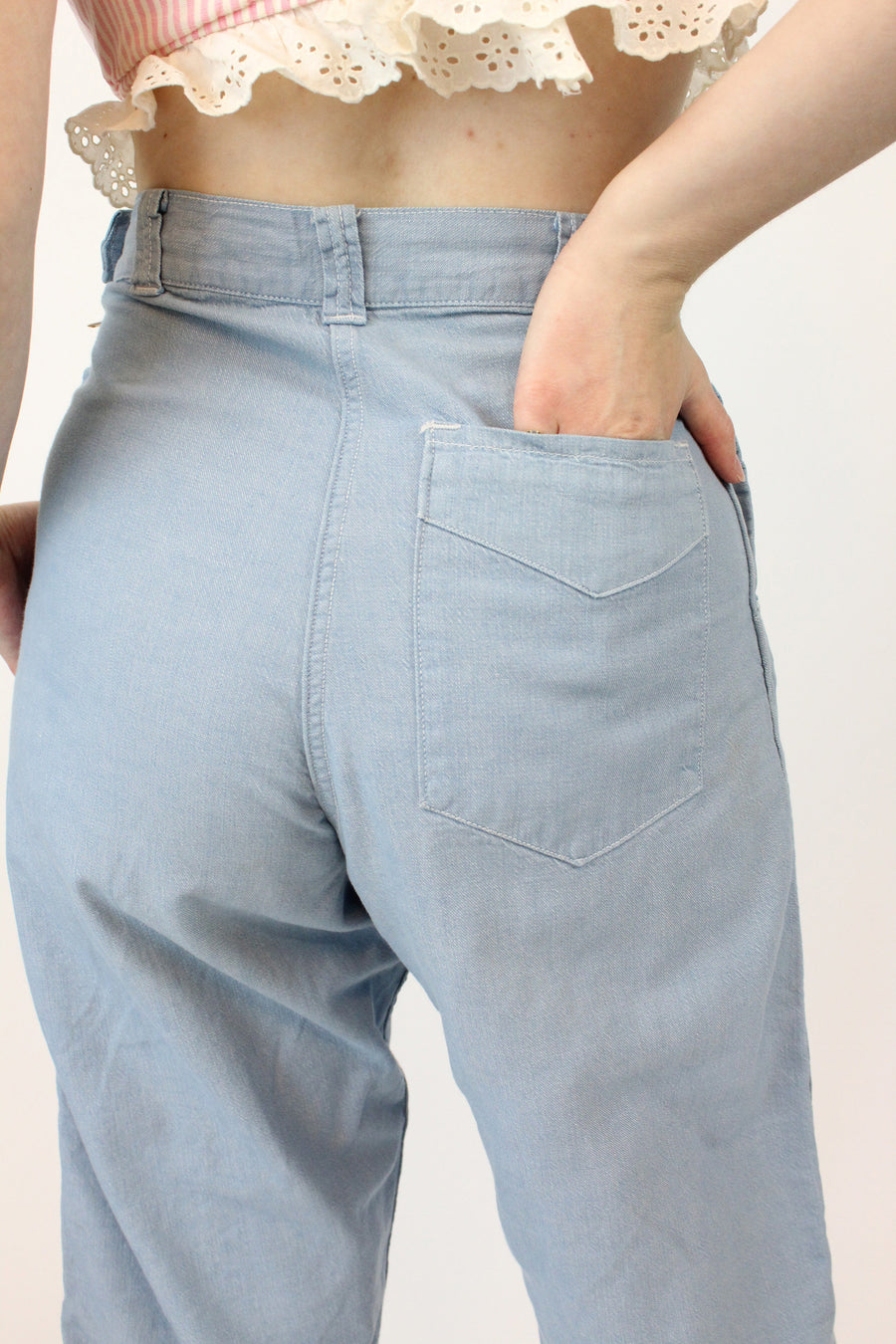 1950s Levi's jeans denim workwear xs | high-waisted pedal pushers pants  | new in