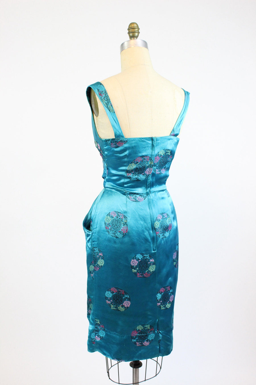 1950s Alfred Shaheen wiggle dress xs | vintage hawaiian belted dress | new in