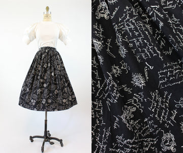 1950s RARE Modern Masters Picasso skirt small | vintage Fuller prints novelty print | new in