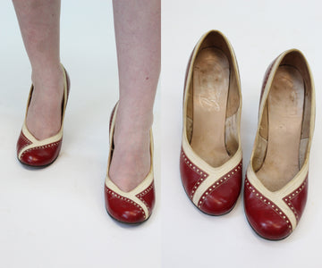 1940s specator pumps size 6 us | vintage shoes | new in