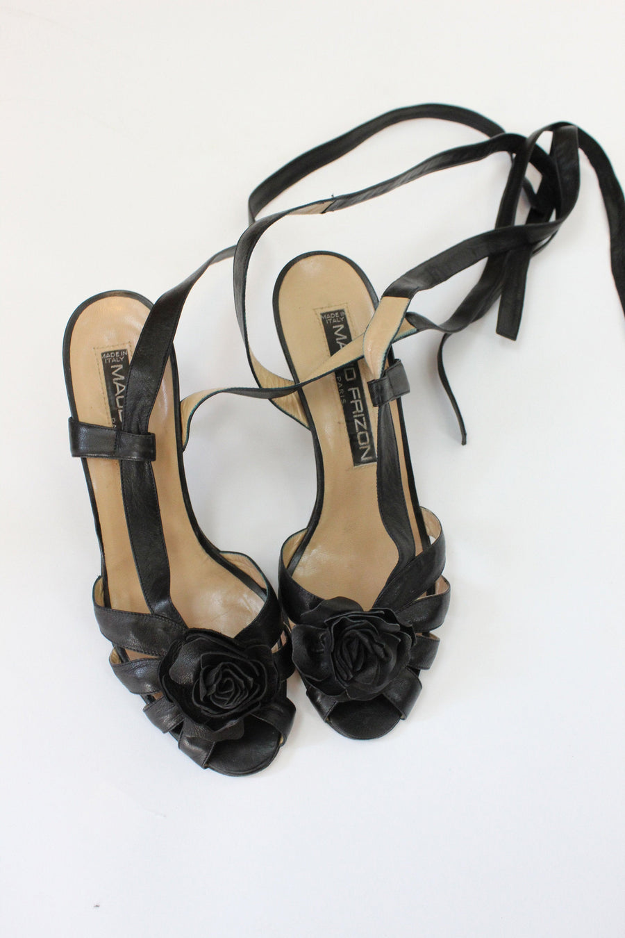 1980s MAUD FRIZON shoes size 8.5 us | vintage strappy ankle straps | new in