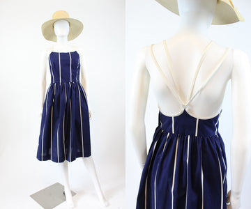 1970s Lanz halter dress xxs | vintage striped sun dress | new in