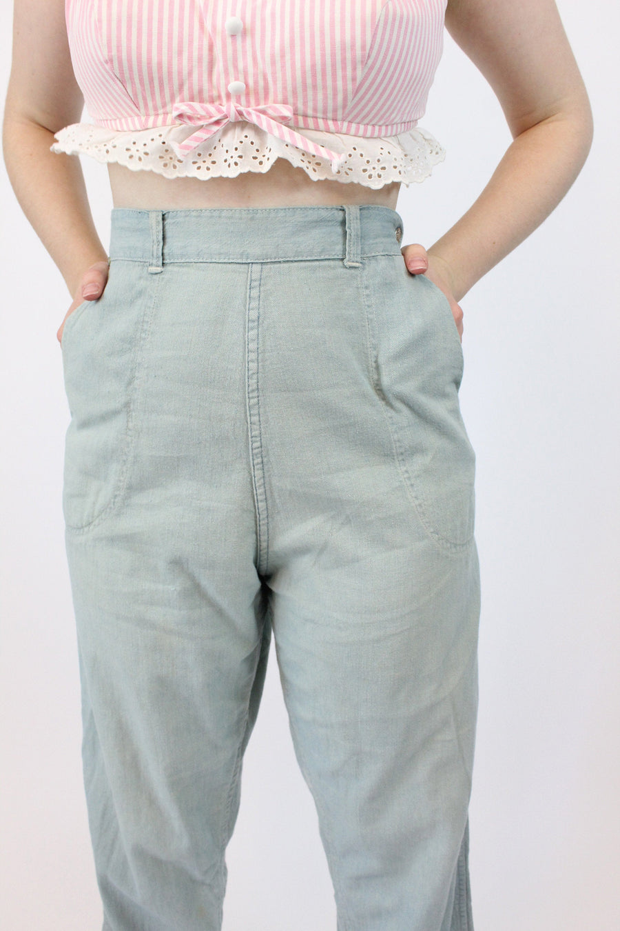 1950s jeans denim workwear medium large | high-waisted pants  | new in
