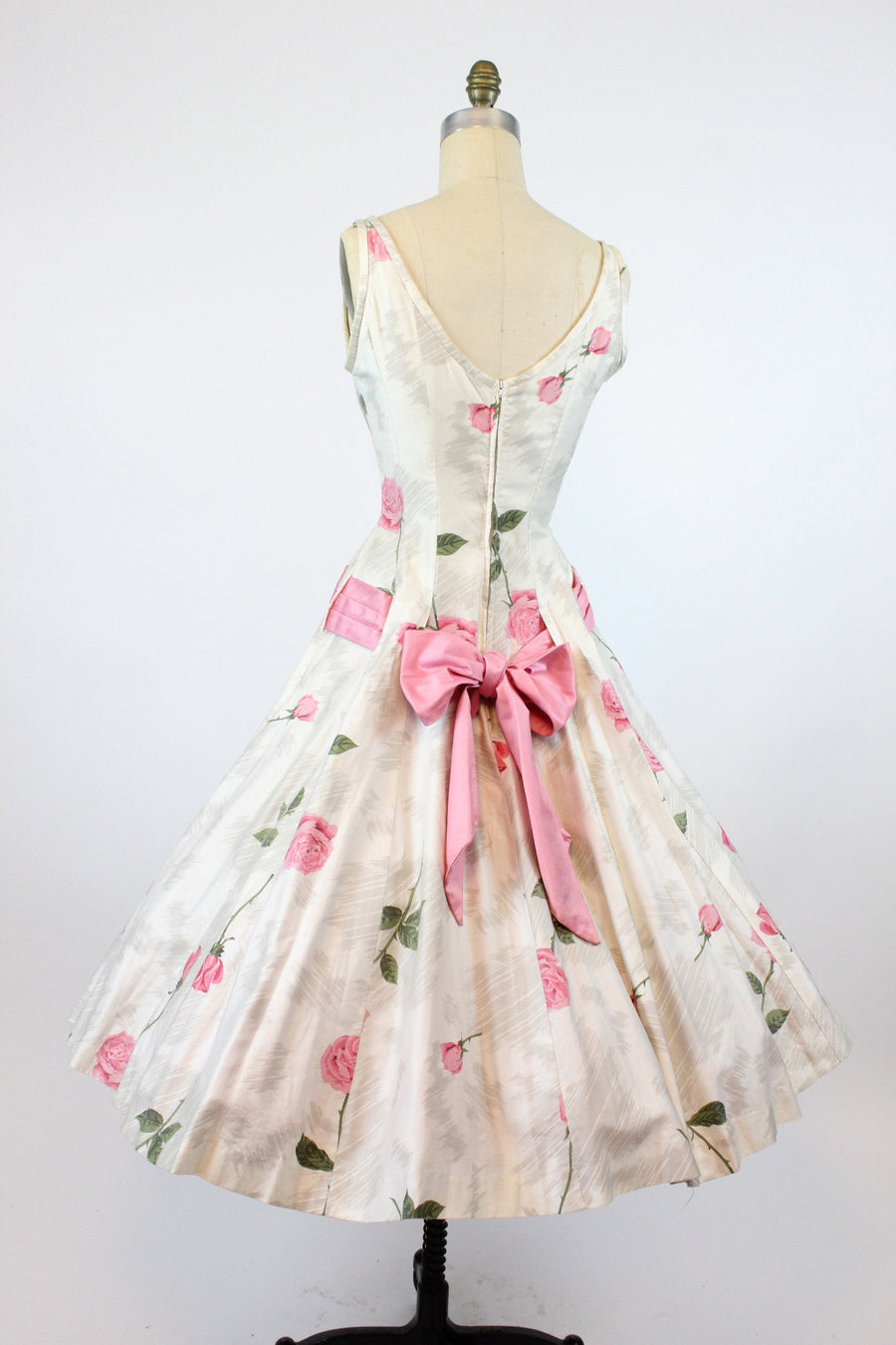 1950s rose print cotton dress small | Young Cosmopolitans dress | new in