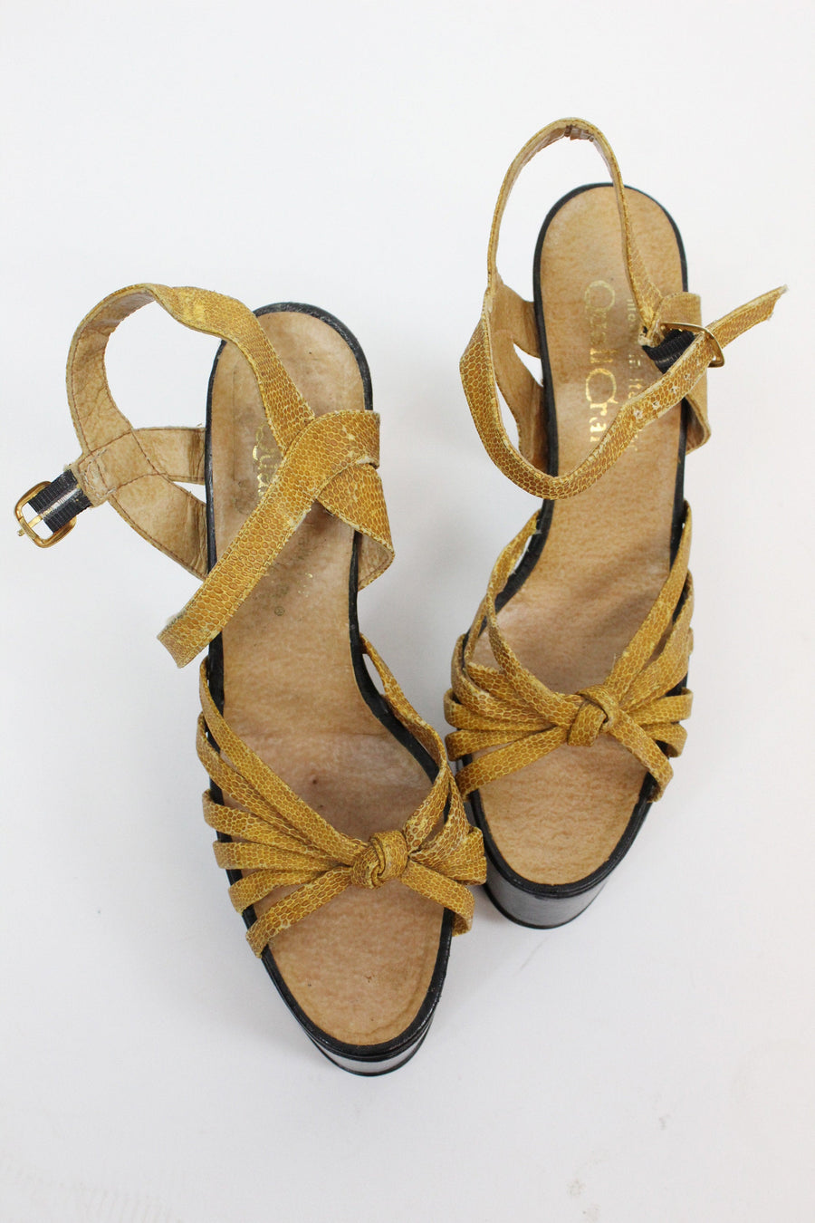 1970s platform sandals shoes size 8 us | vintage mega platforms | new in