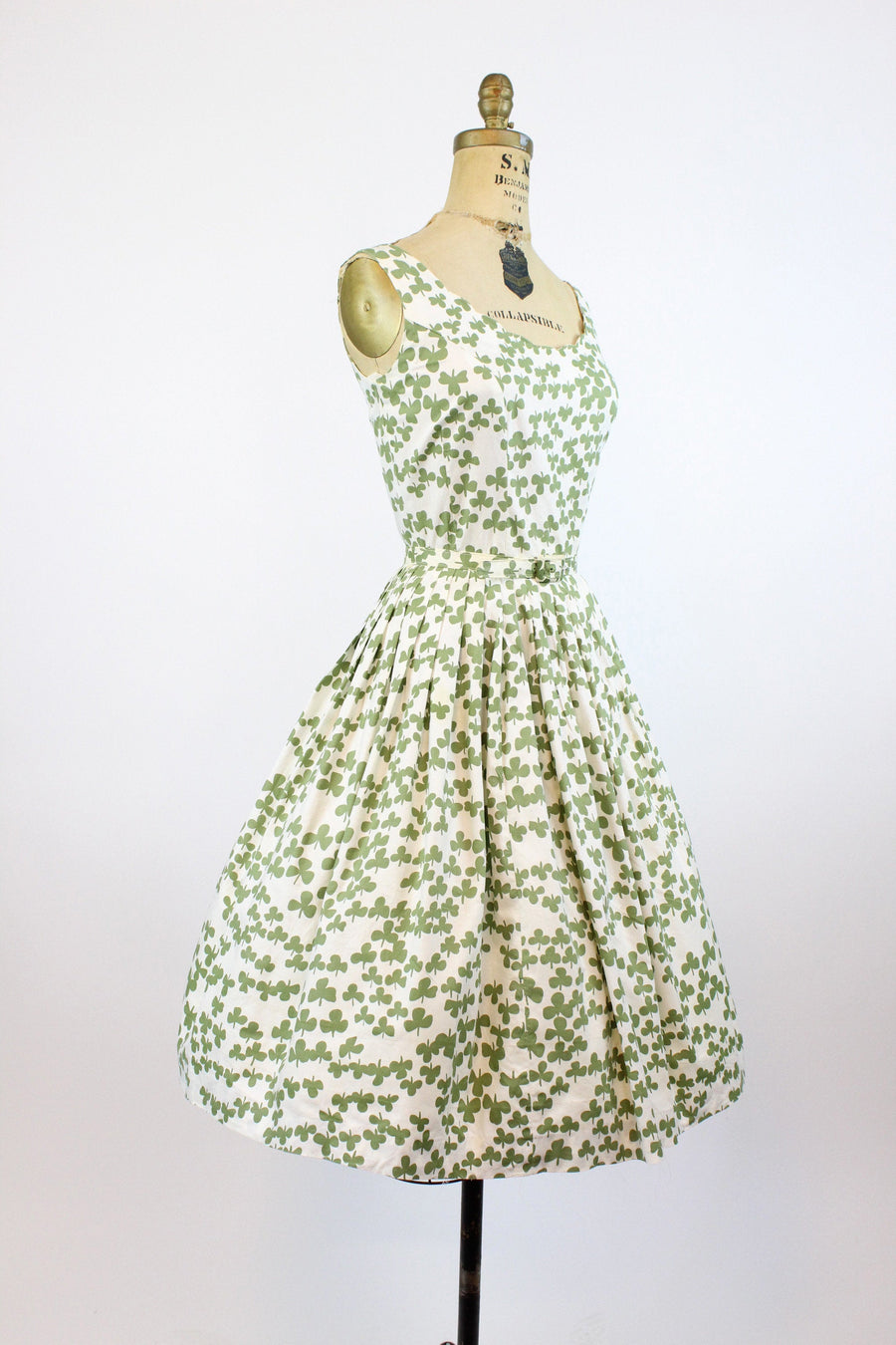 1950s Bobbie Brooks clover print dress xs  | vintage novelty print dress | new in
