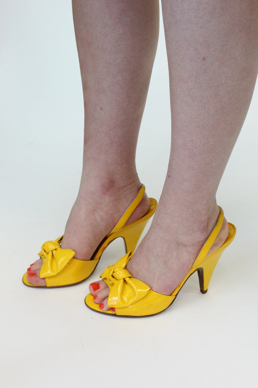 1980s Walter Steiger shoes size 7 us | bow slingbacks | new in