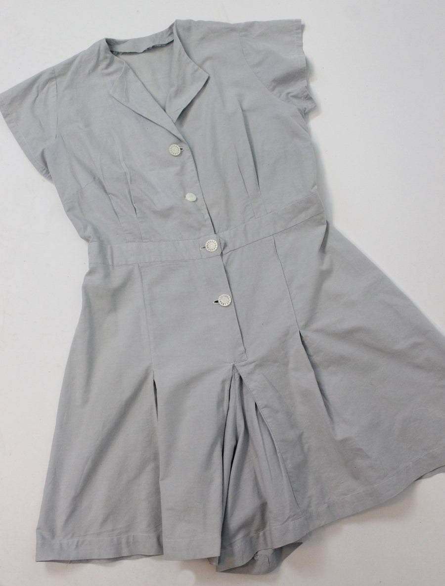 1940s cotton romper large xl volup | vintage jumpsuit shorts | new in