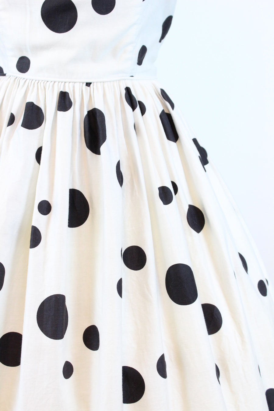 1950s Sue Leslie polka dot cotton dress small | vintage sun dress | new in