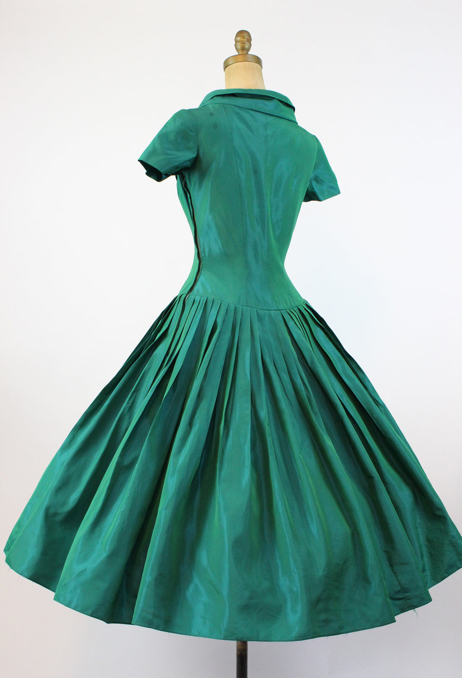 1950s Fred Perlberg green bustier dress xs | vintage full skirt dress| new in   PC