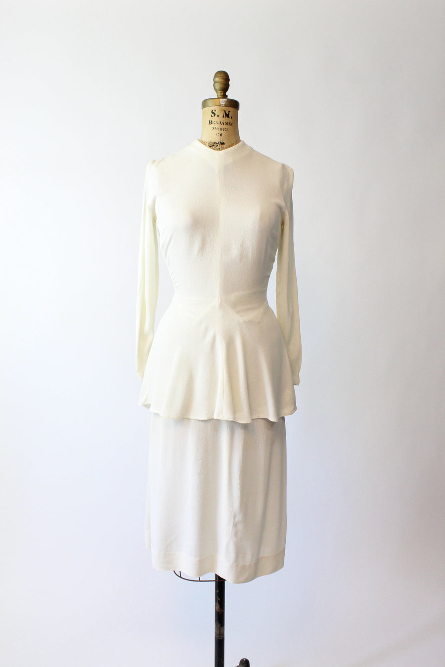 1940s wedding suit xs | vintage rayon blouse and skirt | new in