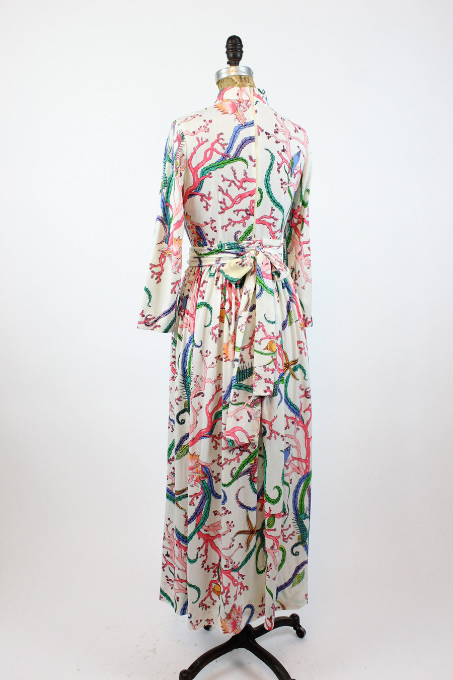 1960s David Crystal seahorse print dress small | vintage maxi dress | new in