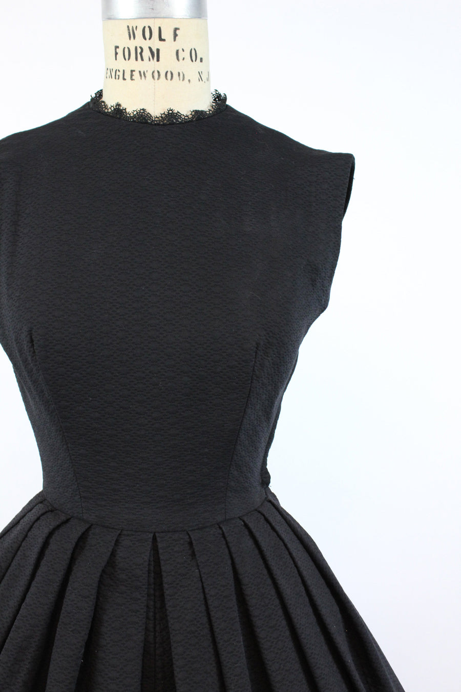 1950s Lanz cotton matelasse dress xs | vintage open back dress | new in