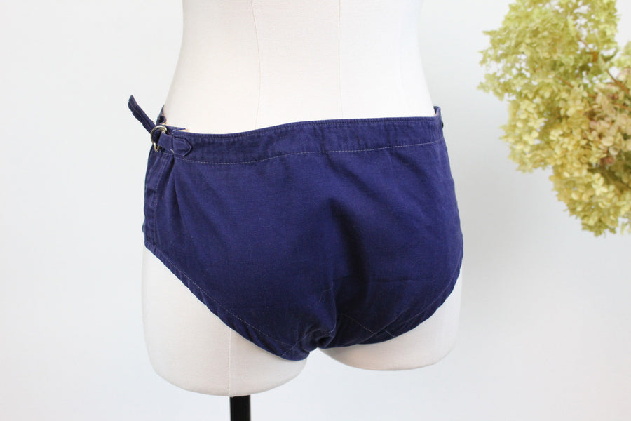 1950s cotton bikini shorts xs | vintage swim shorts | new in