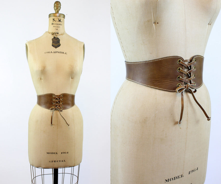 1950s Calderon corset wide leather belt xs | new in