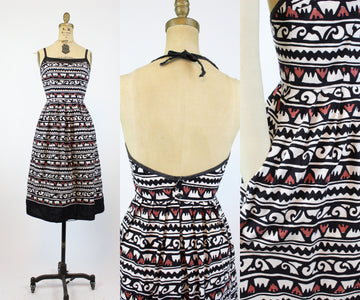1970s Lanz halter dress xs | vintage batik dress | new in