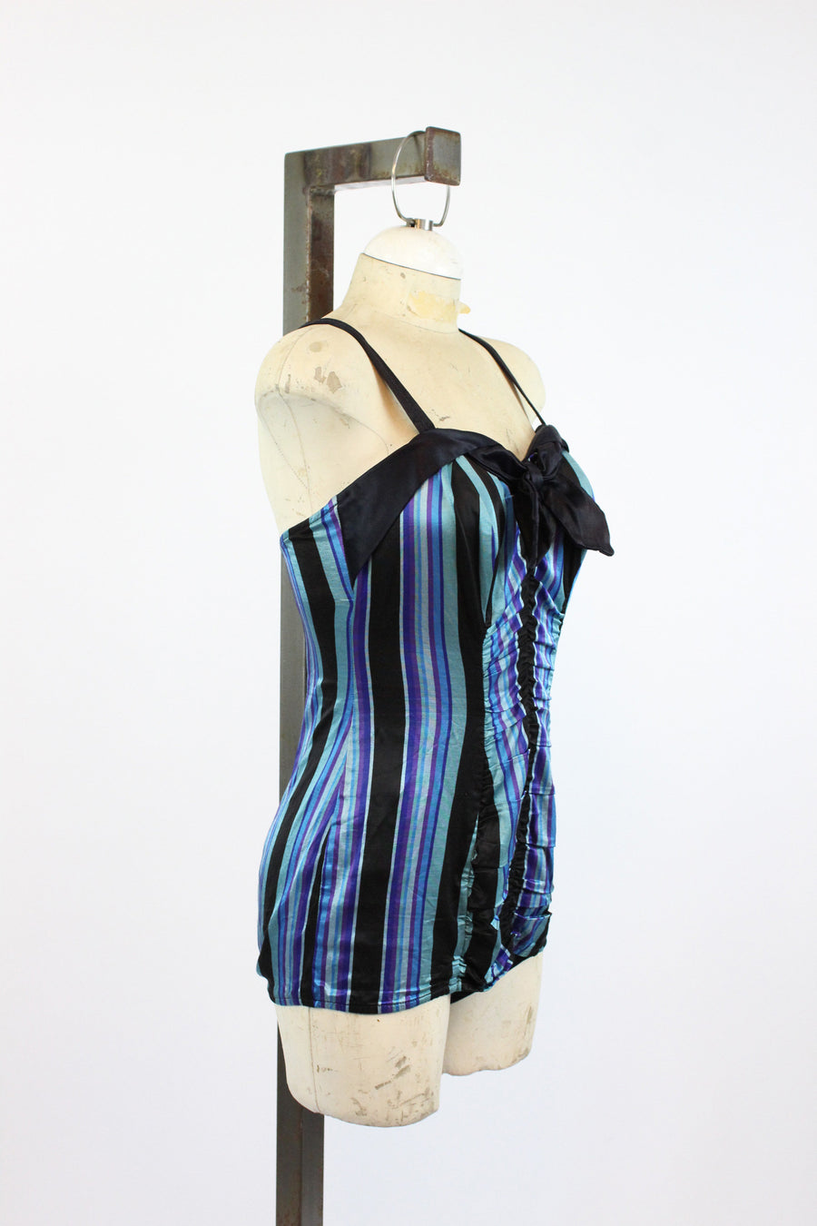 1950s pin up one piece swimsuit small medium | striped swimwear | new in