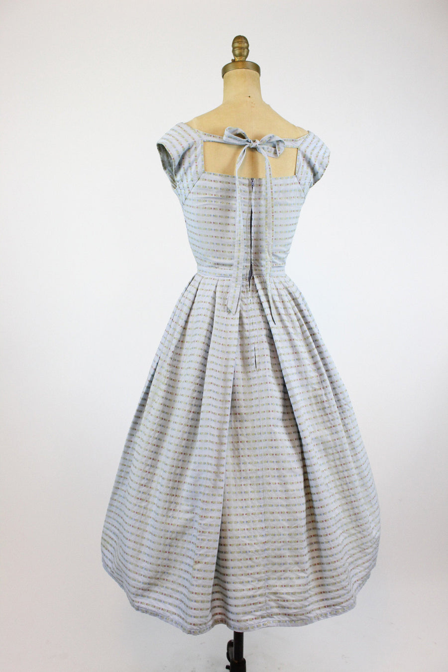 1950s Pat Premo cotton dress xxs  | 1950s back tie dress | new in