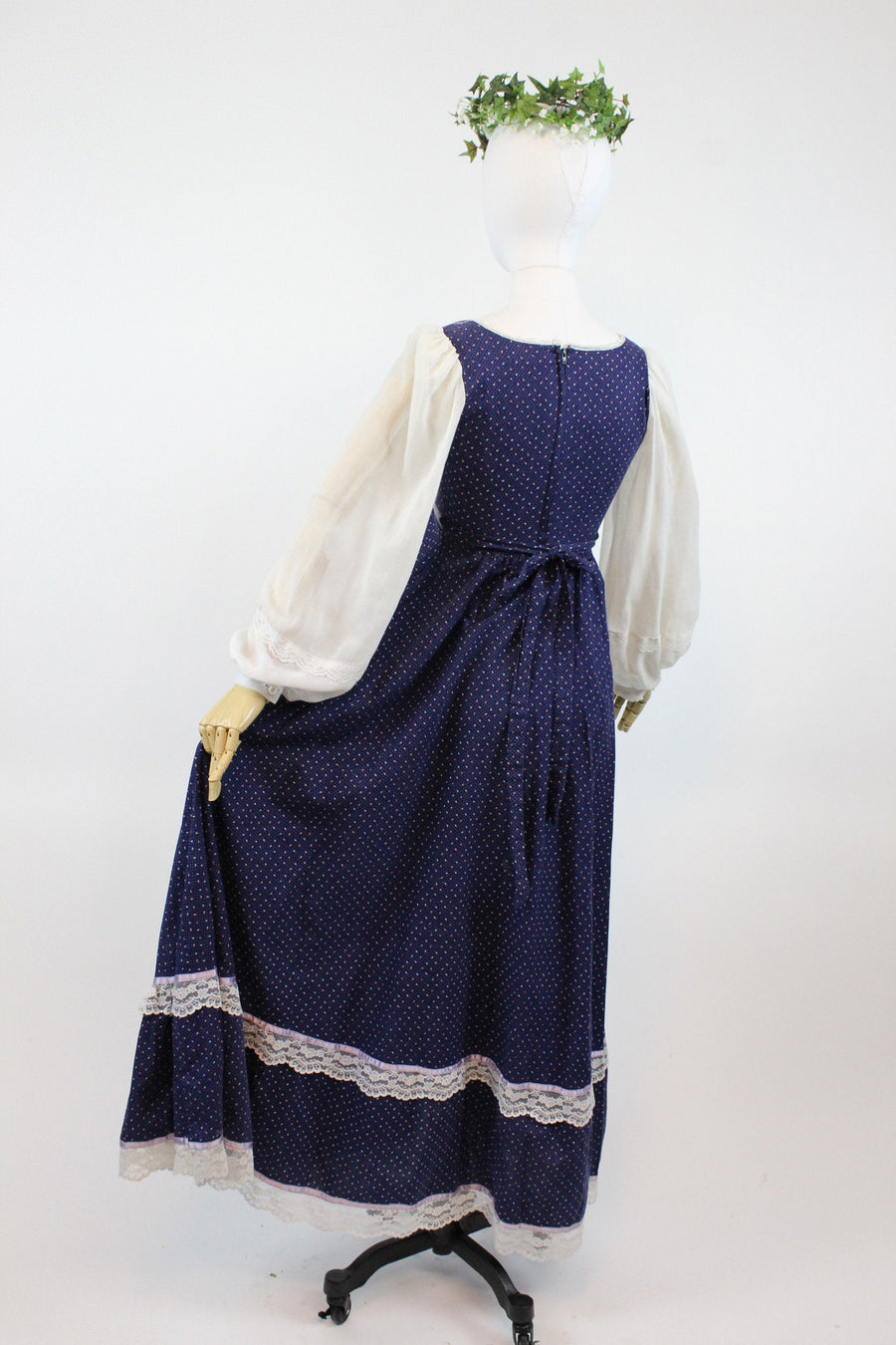1970s Gunne Sax corset maxi dress xxs | vintage calico dress | new in