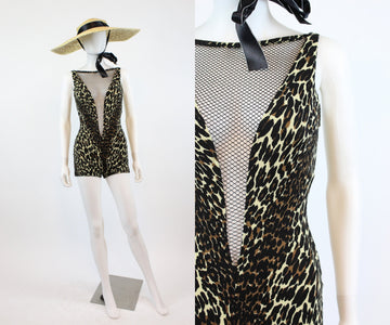 1960s RARE leopard COLE of California SCANDAL swimsuit xs | new in