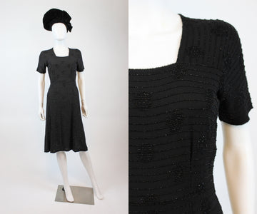 1940s beaded dress xs small  | new fall