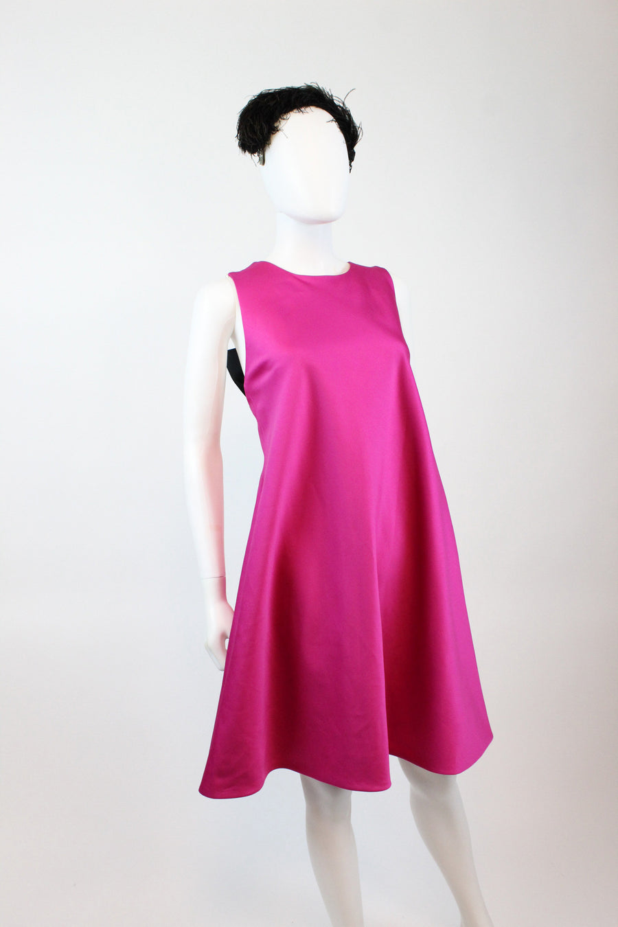 1980s Victor Costa backless trapeze dress xs  | vintage pearl back dress | new in