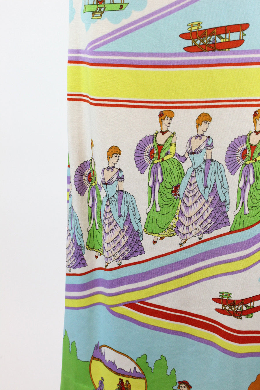 1970s Goldworm art deco print dress small | vintage novelty print | new in