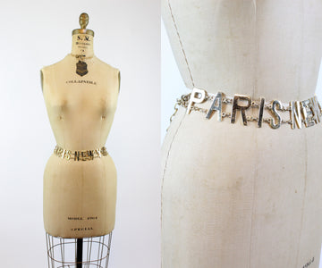 1980s Paris London New York chain metal belt all sizes | new in