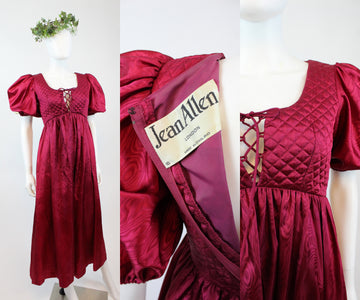 1970s JEAN ALLEN London balloon sleeve dress xs | new fall JMC