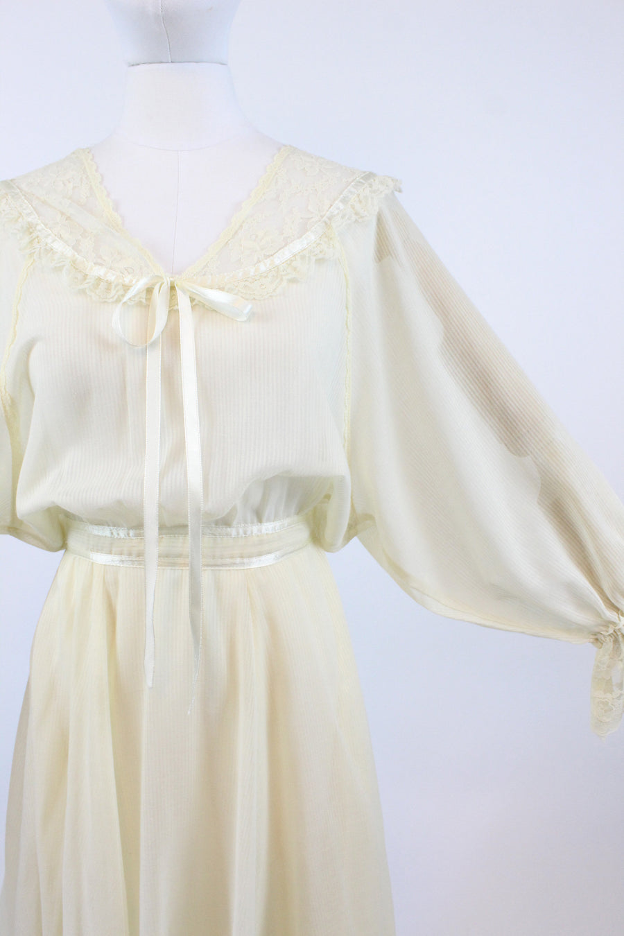 1970s Gunne Sax cotton peasant dress xs | vintage wedding dress | new in