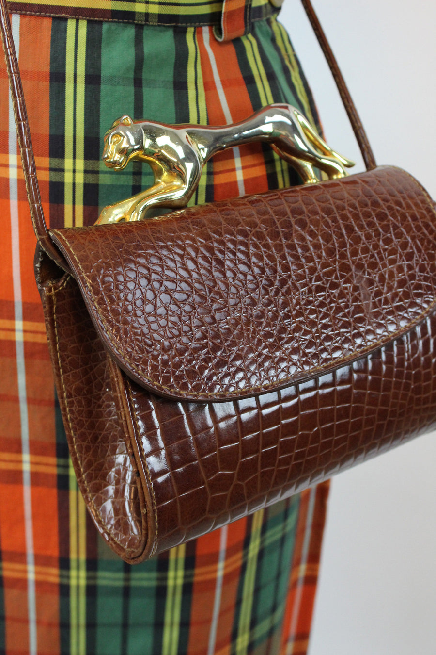 1980s GOLD PANTHER clutch crossbody | new fall