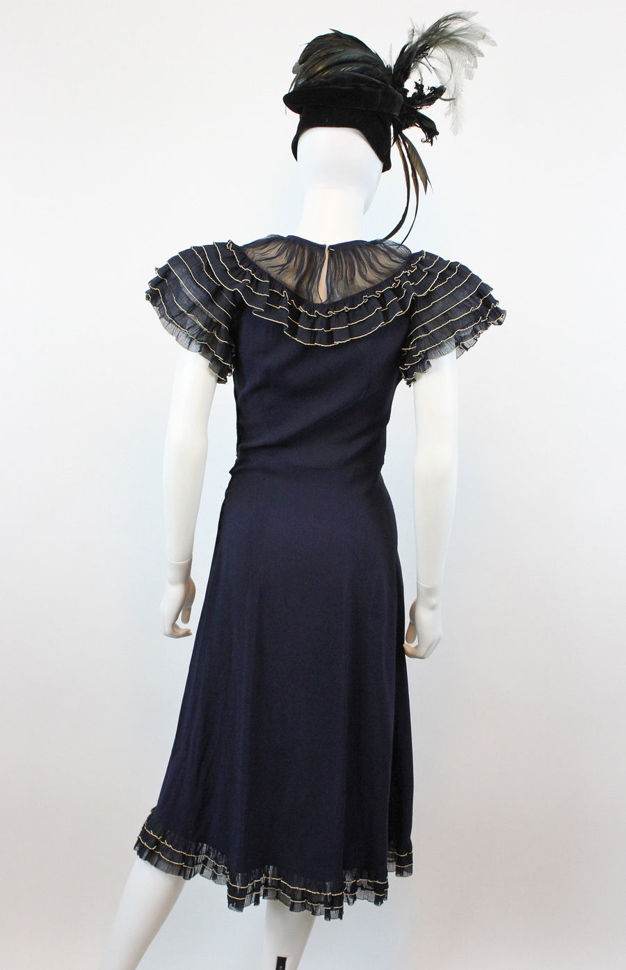 1930s WARNER BROTHERS hollywood rayon silk organza dress xs | new fall